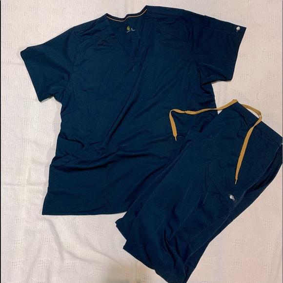 Carhartt Scrub Set Navy Blue
